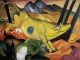 Yellow cow (vaca galbena), Franz Marc